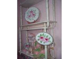 Coppia dietagere gemelli shabby chic