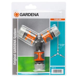GARDENA Gardena Set Connettore a Due Vie per Tubi Arancione