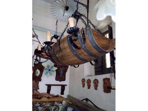 Lampadario rustico con botte
