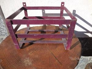 Scaffale Ferro Legno Porta Vasi Libreria2 Posot Class