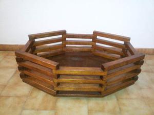 Portavasi in legno anni 70 posot class for Portavasi in legno