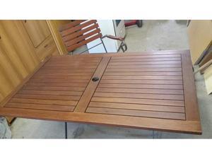 Tavolo da giardino e 4 sedie tutto pieghevole