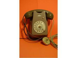 Telefono vintage bigrigio da parete del