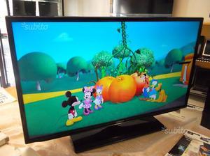 Tv samsung led 40'' perfetta dtt, usb, scart,.ec