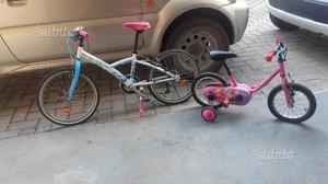 2 bici bambina usare pochissimi
