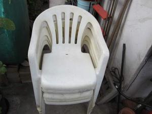 5 sedie in plastica come nuove