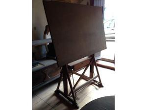 Antico tavolo da lavoro geometra