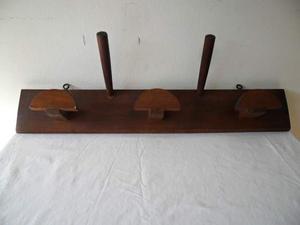 Appendiabiti in legno da parete