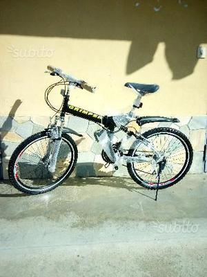 "Bici bicicletta mtb mountain bike pieghevole 24"""