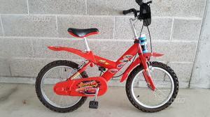 Bicicletta CARS rossa per bambino, cerchio 14 poll