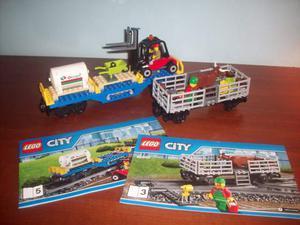 Lego  treno 2 vagoni bestiame e merci
