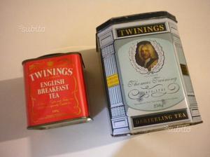 Scatole di latta vintage TWININGS collezione tè