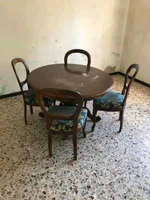 tavolo rotondo e sedie Euro 40