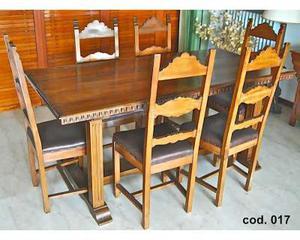 17_Tavolo da pranzo con sedie in legno