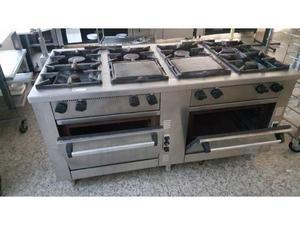 Cucina professionale 6 piastre posot class for Cucina 6 fuochi zanussi usata