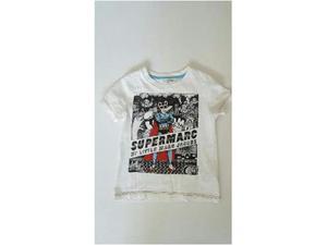T shirt bambino uf bianca stampa cartone supermarc