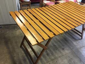 Tavolo pieghevole in ottimo legno posot class - Tavolo in legno pieghevole ...