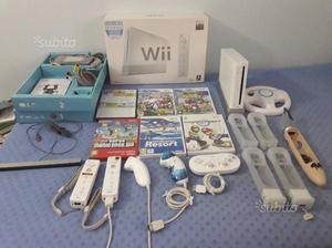 Wii Bianca + 6 giochi + Accessori