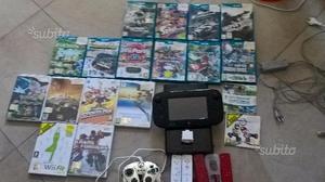 Wii u con 18 giochi + accessori vari