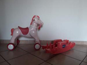 Cavallo A Dondolo Chicco Rosa.Cavallo Chicco Rodeo E Triciclo Carrara Posot Class