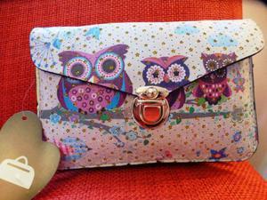 Borsetta pochette accessories con gufi | Posot Class