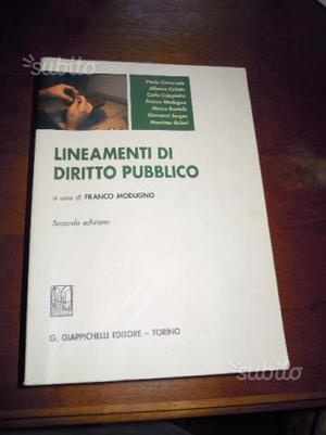 Lineamenti di diritto pubblico, Modugno Giappichel