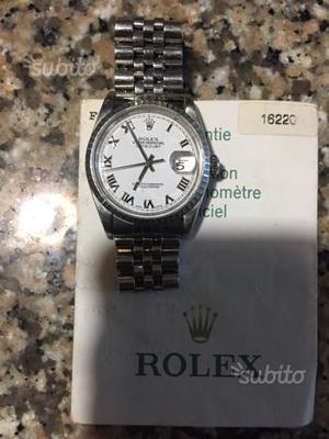 Rolex datejust bracciale jubilee garanzia Rolex
