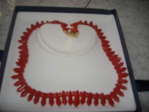 Splendida collana in corallo rosso, torre del greco, a