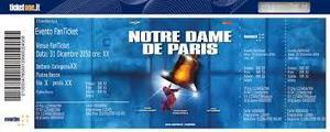 Vendo biglietti per Notre Dame de Paris  a Verona