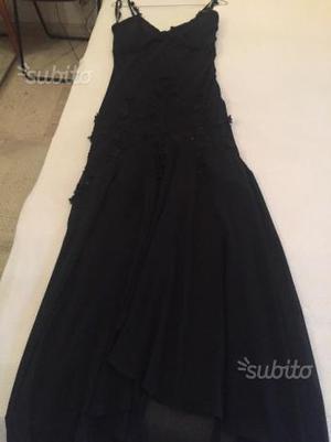 Vestito donna elegante in seta con lavorazioni