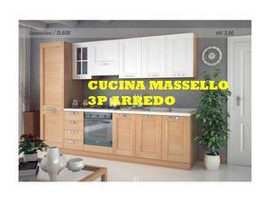 Cucina completa 3 metri anta vero milano posot class - Cucina 3 metri completa elettrodomestici indesit prezzi ...