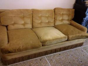 Divano depoca tre posti antico in velluto posot class for Lunghezza divano tre posti