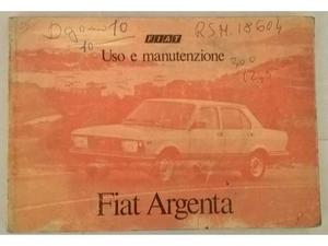 Fiat Argenta Libretto manuale uso e manutenzione
