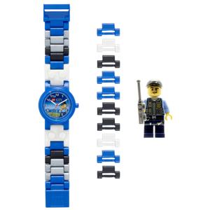 LEGO CiTY Orologio Componibile Polizia in Plastica