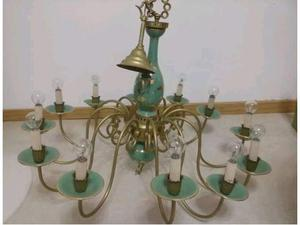 Lampadario lumiera ferro battuto ceramica