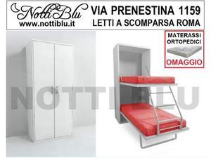 Letti a Scomparsa _ Letto Castello VE 059 Materasso Omaggio