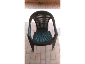 6 sedie in plastica impilabili da giardino posot class - Sedie da giardino in plastica ...
