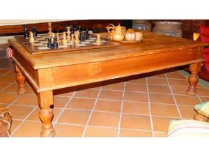Tavolino in legno di Acacia e legno di Rosa