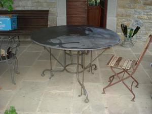 Tavolo rotondo in ferro milano posot class - Tavolo ferro battuto giardino ...