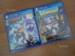 Crash Bandicoot + Ratchet e Clank NUOVI