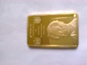 Lingottino laminato in oro 24K Willy Brandt