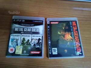 Metal gear solid 4 e HD Collection PS3