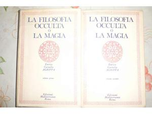 """2 libri """"la filosofia occulta o la magia"""" di cornelio"""