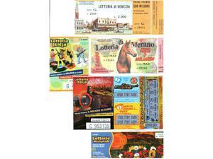 850 - Biglietti lotteria italia dal