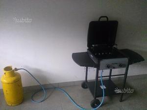 Barbecue Grillino a gas e pietra lavica