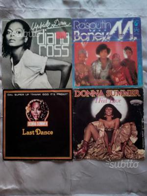 Dischi 45 giri disco music