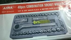 Set chiavi a bussola con cricchetto 40 pezzi da 3/