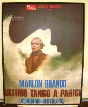 ULTIMO TANGO A PARIGI Grande manifesto originale