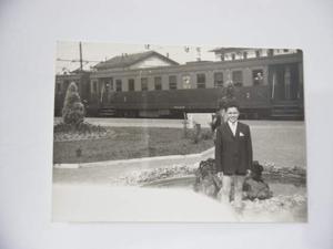 Varese:foto stazione di varese vintage originale.