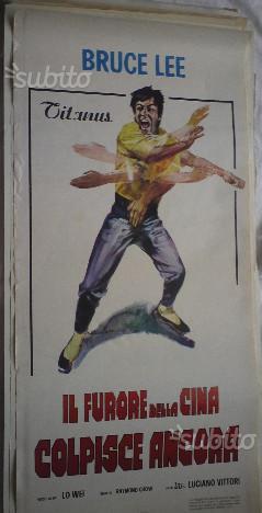 Vecchie locandine film karate bruce lee originali